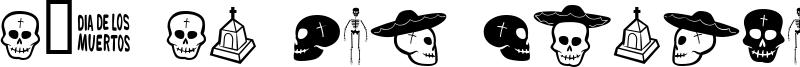 Día de los muertos Font