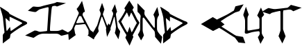 Diamond Cut Font