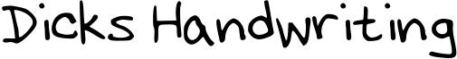 Dicks Handwriting Font