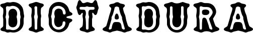 Dictadura Font