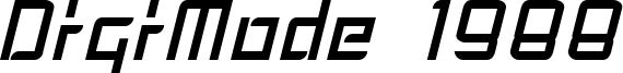 DigiMode 1988 Font
