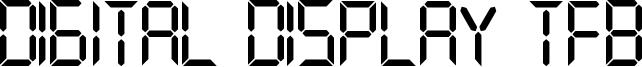 Digital Display TFB Font