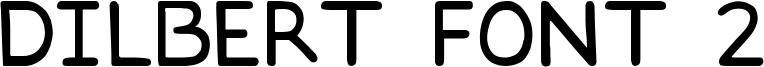 Dilbert font 2 Font