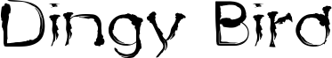 Dingy Bird Font