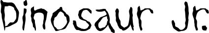 Dinosaur Jr. Font