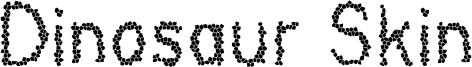 Dinosaur Skin Font