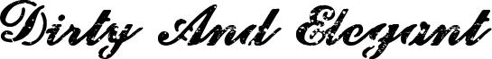 Dirty And Elegant Font
