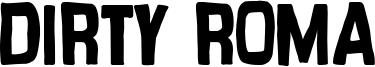 Dirty Roma Font