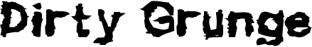 Dirty Grunge Font