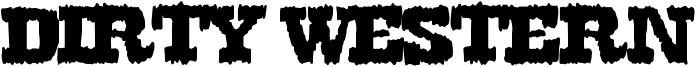 Dirty Western Font