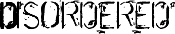 Disordered Font