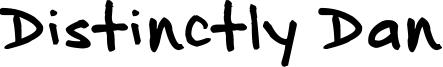 Distinctly Dan Font