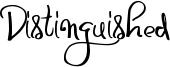 Distinguished Font