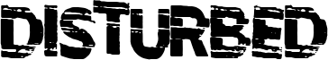 Disturbed Font