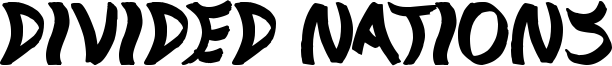 Divided Nations Font