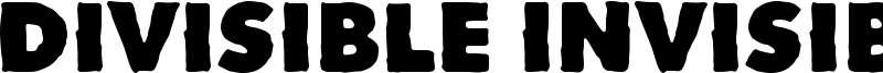 Divisible Invisible Font