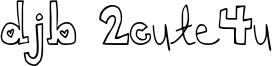 DJB 2Cute4u Font