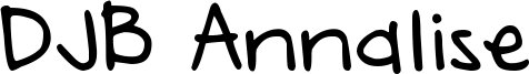 DJB Annalise Font