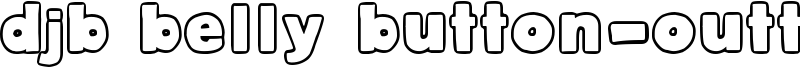 DJB Belly Button-Outtie Font