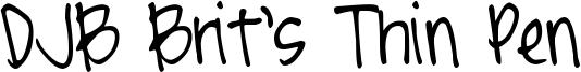 DJB Brit's Thin Pen Font