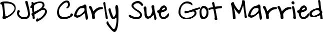 DJB Carly Sue Got Married Font