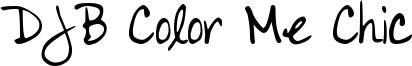 DJB Color Me Chic Font