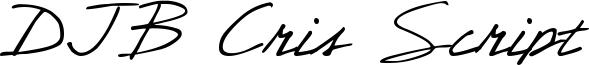 DJB Cris Script Font