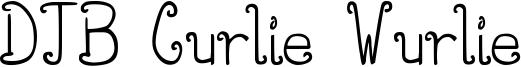 DJB Curlie Wurlie Font