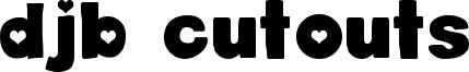DJB Cutouts Font