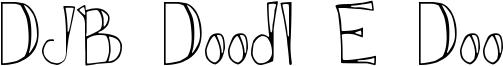 DJB Doodl E Doo Font