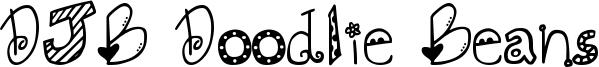 DJB Doodlie Beans Font