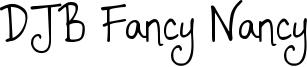 DJB Fancy Nancy Font
