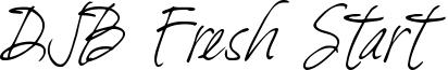 DJB Fresh Start Font