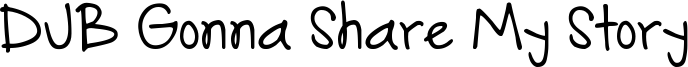 DJB Gonna Share My Story Font