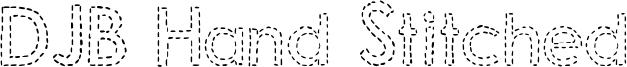 DJB Hand Stitched Font
