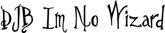 DJB Im No Wizard Font