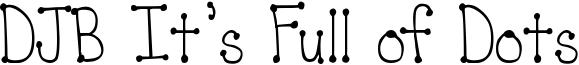 DJB It's Full of Dots Font