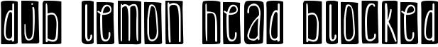 DJB Lemon Head Blocked Font
