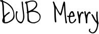 DJB Merry Font