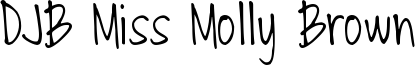 DJB Miss Molly Brown Font