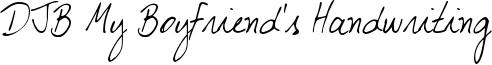 DJB My Boyfriend's Handwriting Font