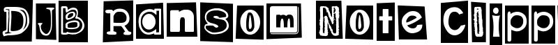 DJB Ransom Note Clipped Font