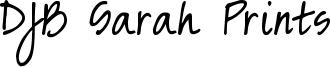 DJB Sarah Prints Font