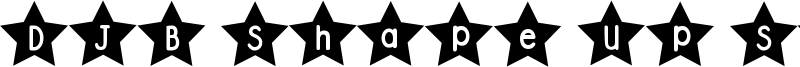 DJB Shape Up Stars Font
