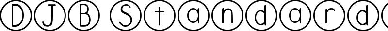 DJB Standardized Test Font