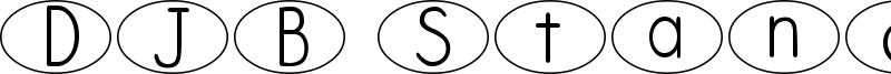 DJB Standardized Test Oval Font