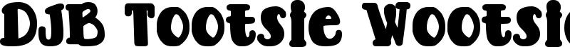 DJB Tootsie Wootsie Bold Font