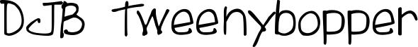 DJB Tweenybopper Font