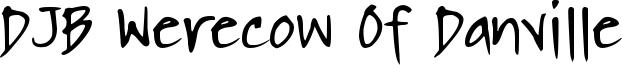 DJB Werecow Of Danville Font