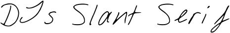 DJs Slant Serif Font